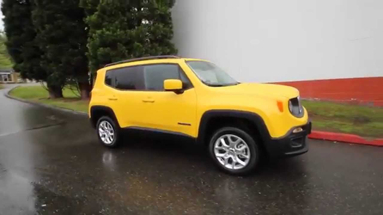 Chrysler Dodge Jeep Ram Of Seattle >> 2015 Jeep Renegade Latitude | Yellow | FPB17324 | Redmond | Seattle - YouTube