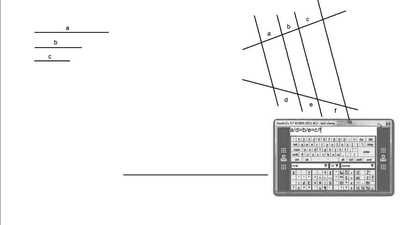 Dividir un segmento en tres partes proporcionales a otros tres ...