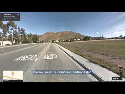 Riverside east, California Behind the wheel test route #3
