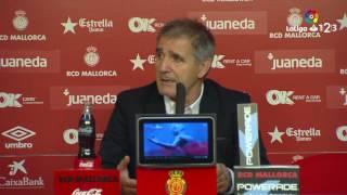 Rueda de prensa de Paco Herrera tras el RCD Mallorca vs Real Valladolid (0-3)