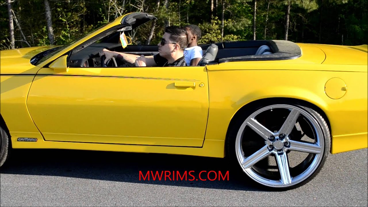 3rd gen camaro z28 convertible 26quot iroc rims youtube