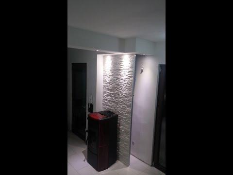 installazione stufa idro e costruzione parete e veletta in ...
