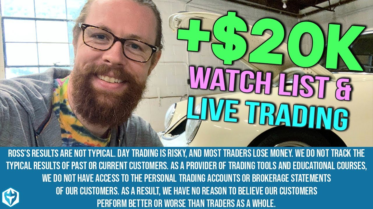 LIVE TRADING +$20k plus $2k on AMZN ETSY NFLX ROKU and DIS Swing Trades