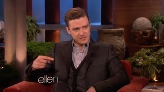 Justin Timberlake Talks Jessica Biel on Ellen!