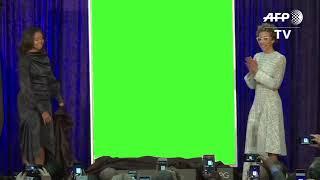 Michelle Obama Portrait Unveiling Green Screen