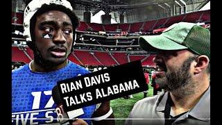 Four Star Rian Davis talks interest in Alabama