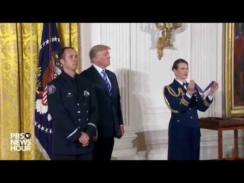 WATCH: President Trump holds Public Safety Medal of Valor Awards Ceremony at the White House