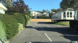 A drive through waterside holiday park in Weymouth