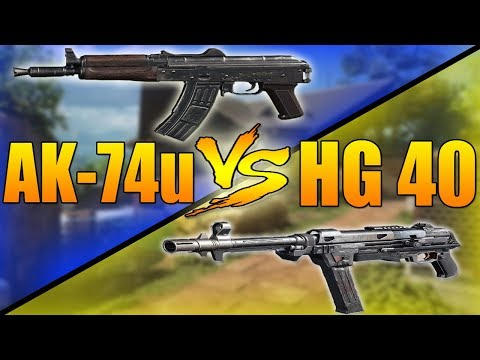 AK-74u VS HG 40 (Call of Duty Black Ops 3 SMG Weapons Versus)