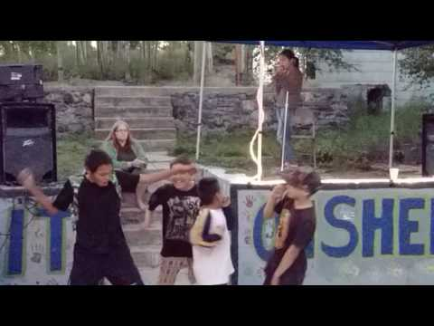 Singing and Dancing at Share It On Sherritt, Aug., 2016