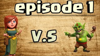 Clash of clans| villagers VS Goblins series|1000villagers vs Goblins|storymode clash of clans priva
