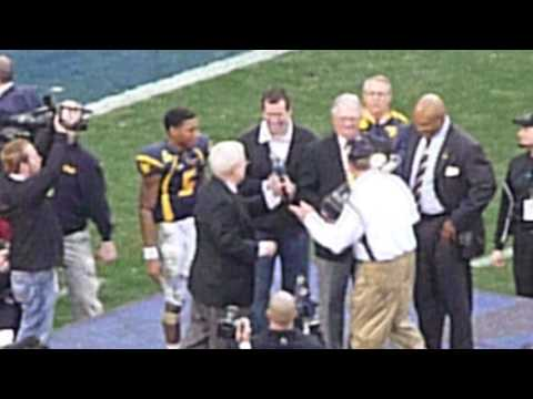 WVU Football Meineke Car Care Bowl 2008 Pat White Bill Stewart