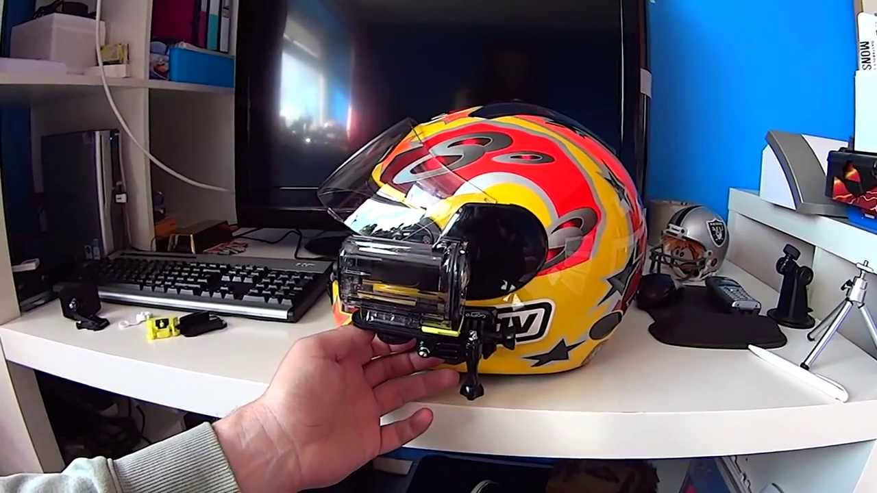 Sony Action Cam HDR AS15 helmet side mount using gopro ...
