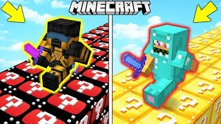 CORSA con i LUCKYBLOCK YOUTUBE vs MINECRAFT - Minecraft ITA