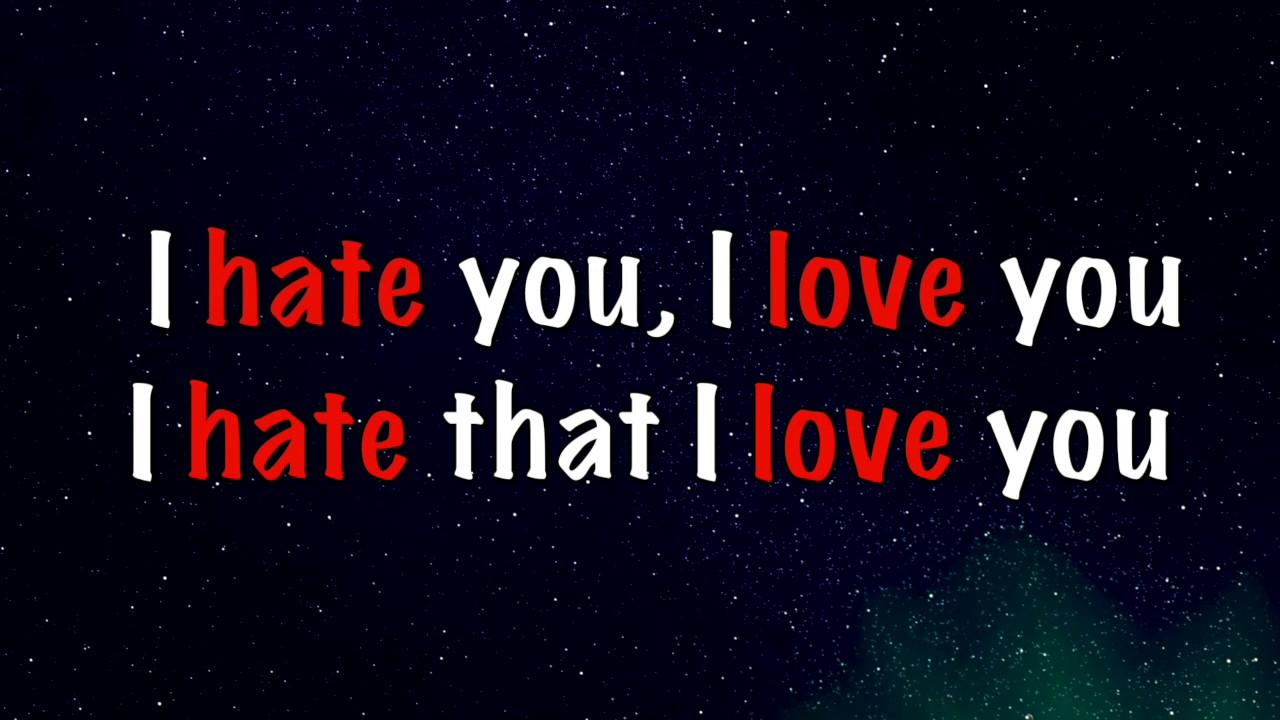 i hate you love photo