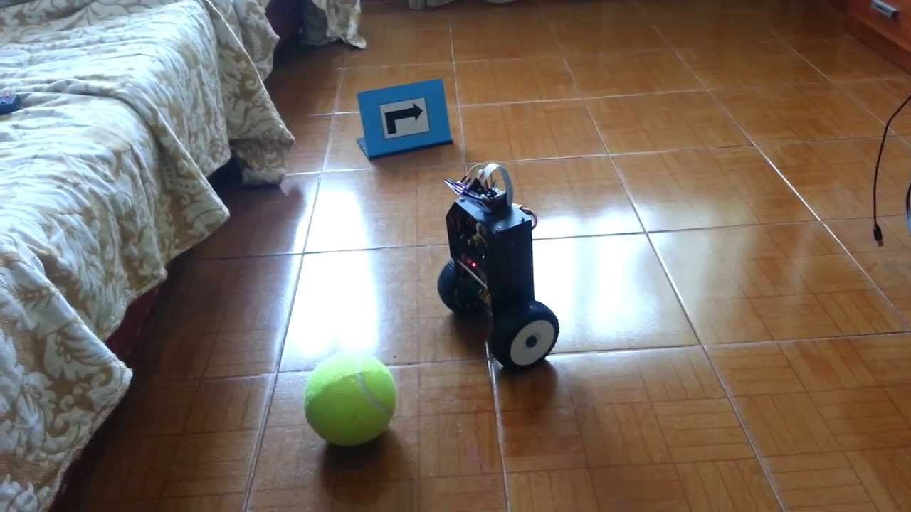 RS4 - Self balancing Raspberry Pi OpenCV image processing Robot Update 2