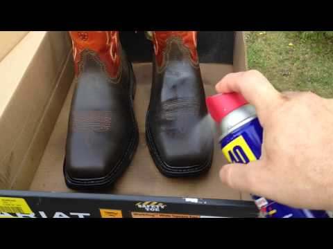 "Try this leather conditioner with WD40 ""A Little Life Hack"""