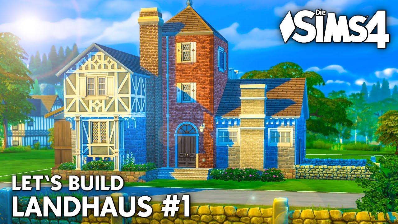 die sims 4 haus bauen landhaus 1 grundriss deutsch. Black Bedroom Furniture Sets. Home Design Ideas