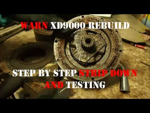 JD\u0027s DefenderCam 4 Warn XD9000 Winch Rebuild Part1-Testing