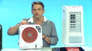 Sichler Haushaltsgeräte Mobiler Akku-Verdunstungs-Luftkühler LW-350 mit LED