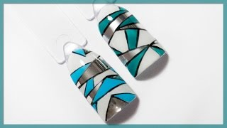 Идеальное геометрическое ЛИТЬЕ на ногтях. Маникюр геометрия с литьем. Красивый дизайн ногтей
