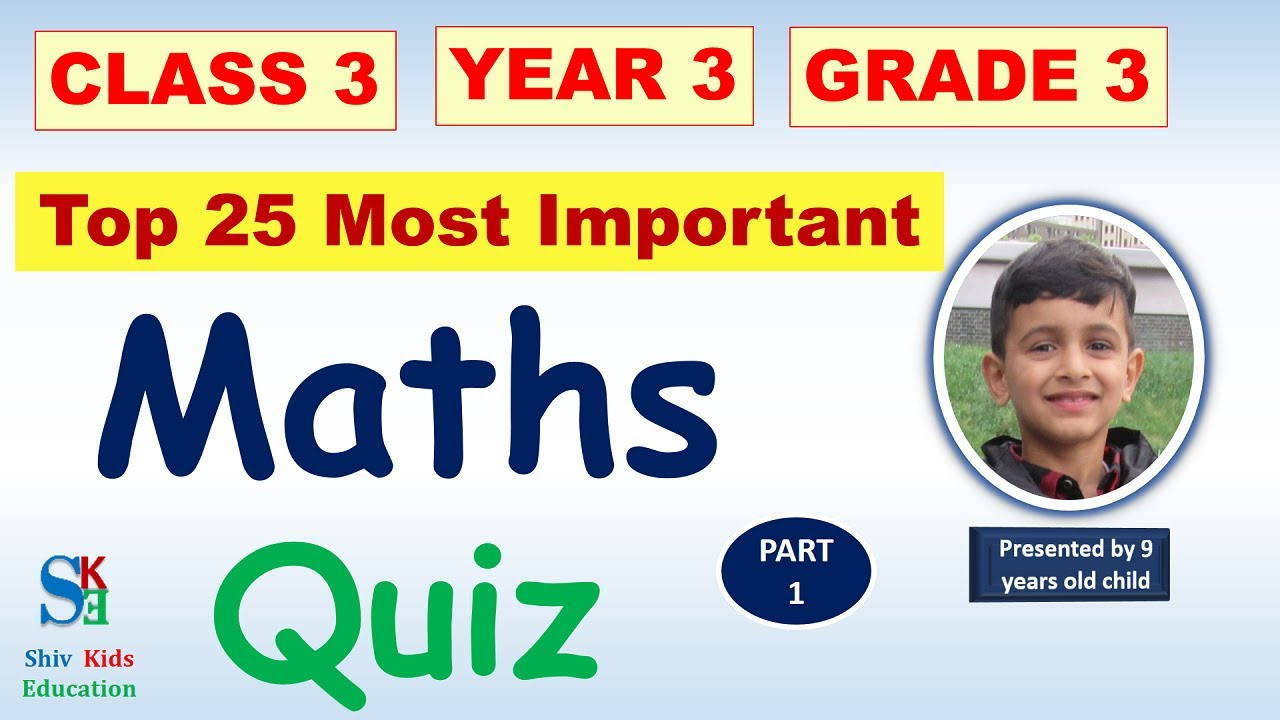 Maths question and answer for class 3 [Maths quiz CBSE 2021]