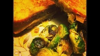 Chicago Johnny's Grilled Cheese Eggplant Sandwich With Caramelized Onions & Brussels Sprouts