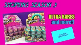 SHOPKINS SEASON 3 fun toys collection blind baskets surprise baskets