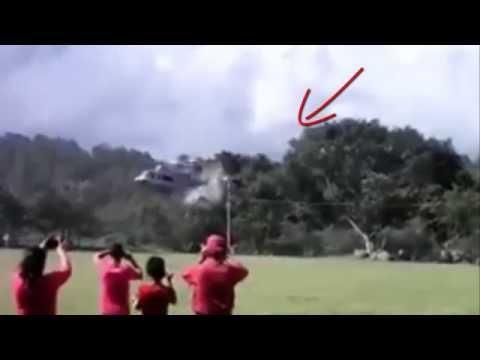 Se accidenta helicoptero en La Labor, Ocotepeque depues de presentar show de paracaidismo