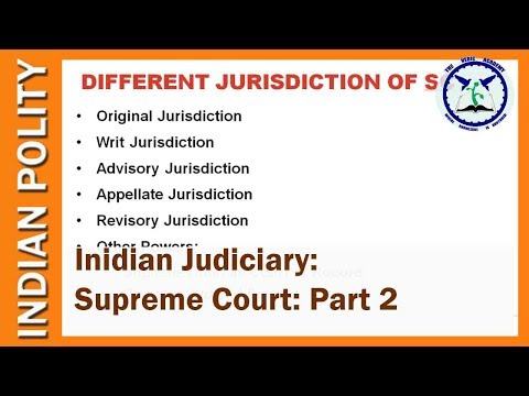 Indian Judiciary: Supreme Court Part 2   Indian Polity   SSC CGL, UPSC   by TVA