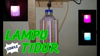Cara Membuat Lampu Tidur Unik Dari Sedotan & Botol Plastik