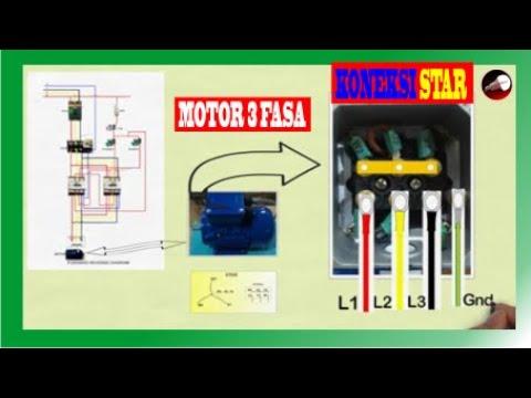 Cara koneksi STAR pada motor 3 fasa - YouTube