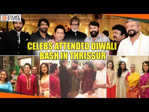 Mammootty, Amitabh Bachchan, Sachin Tendulkar, and Other Celebs Attended Diwali Bash in Thrissur