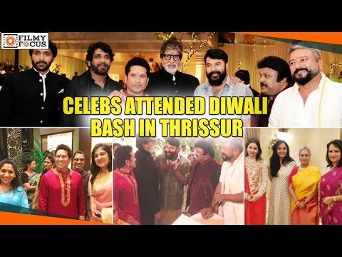 Mammootty, Amitabh Bachchan, Sachin Tendulkar, and Other Celebs Attended Diwali Bash in Thrissur