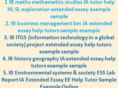 ib business management bm ia sample example extended youtube - History Extended Essay Example
