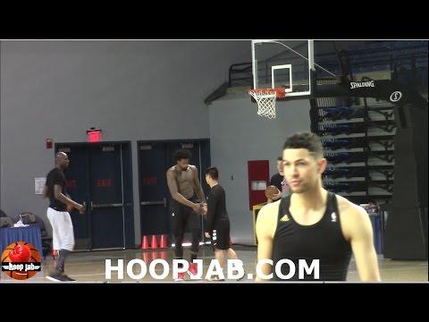 Kevin Garnett Teaching DeAndre Jordan Post Moves. HoopJab NBA