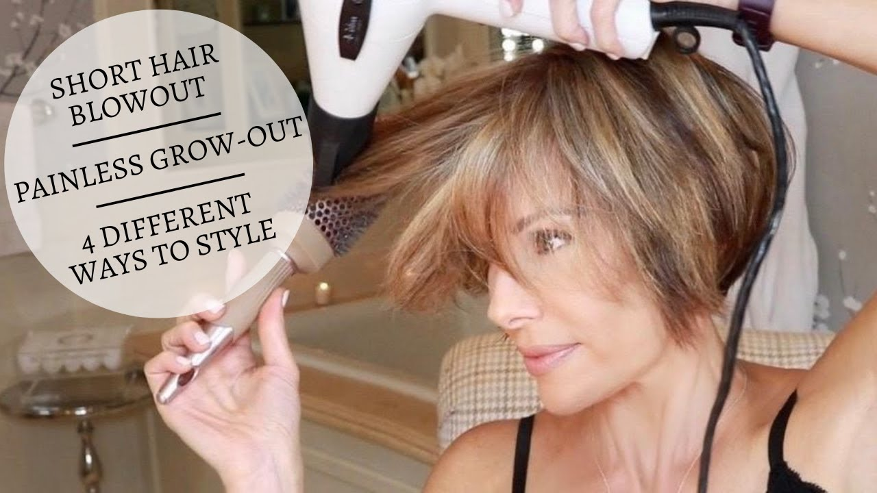 Short Hair Blowout / Painless Grow-Out / 4 Different Ways To Style | Dominique Sachse