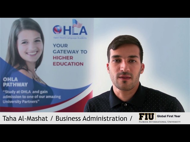 Taha Al Mashat is Admitted to Florida International University through OHLA Miami