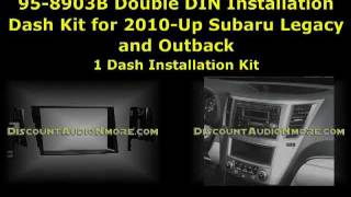 95-8903B $28.95 Free Shipping Subaru 2010-Up Legacy Outback Dash Kit Double DIN 10 Metra