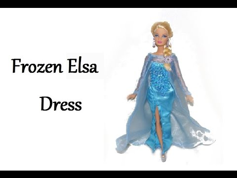 How to make Frozen inspired Elsa Dress Tutorial DIY - YouTube