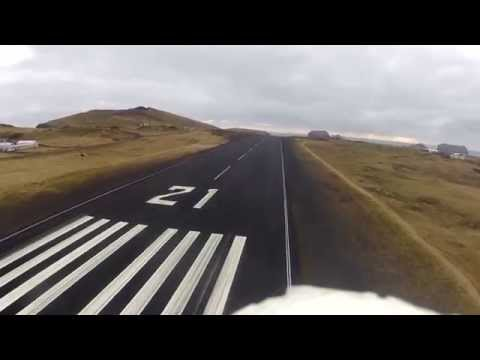 Drone flies over airport FPV - Aerial Iceland