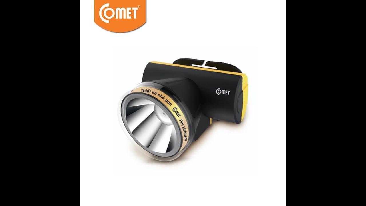 Đèn pin đội đầu cao cấp COMET CRT1613: thử độ sáng
