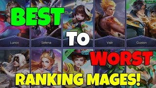 Ranking Mages From Best to Worst according to their Basic Attributes! | Mobile Legends | MLBB