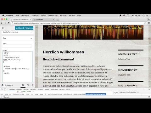 Themes anpassen mit Widgets | Auszug aus: WordPress 4.5 — Das umfassende Training
