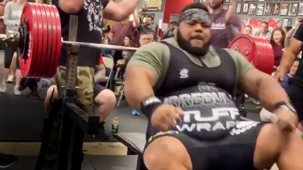 The Heaviest Bench Press In The World Julius Maddox 744lbs Youtube