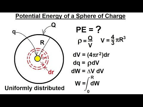 Physics - E&M: Electric Potential (8 of 22) PE=? of a Sphere of Charge