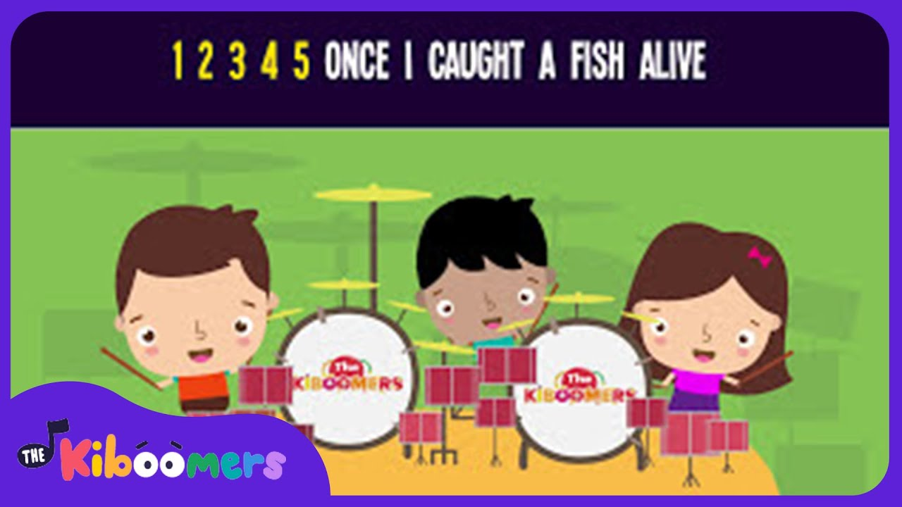 12345 Once I Caught a Fish Alive Song for Kids | Fun Nursery Rhymes for Children | The Kiboomers