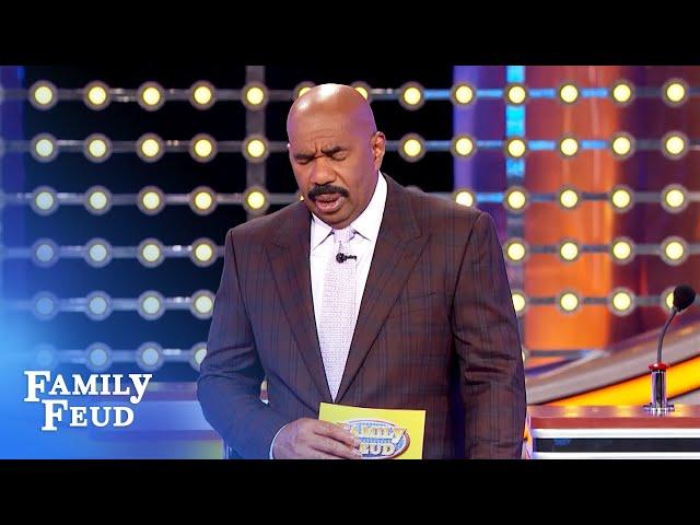 Steve Harvey mocked by the board! Way to go, T'wana! | Family Feud