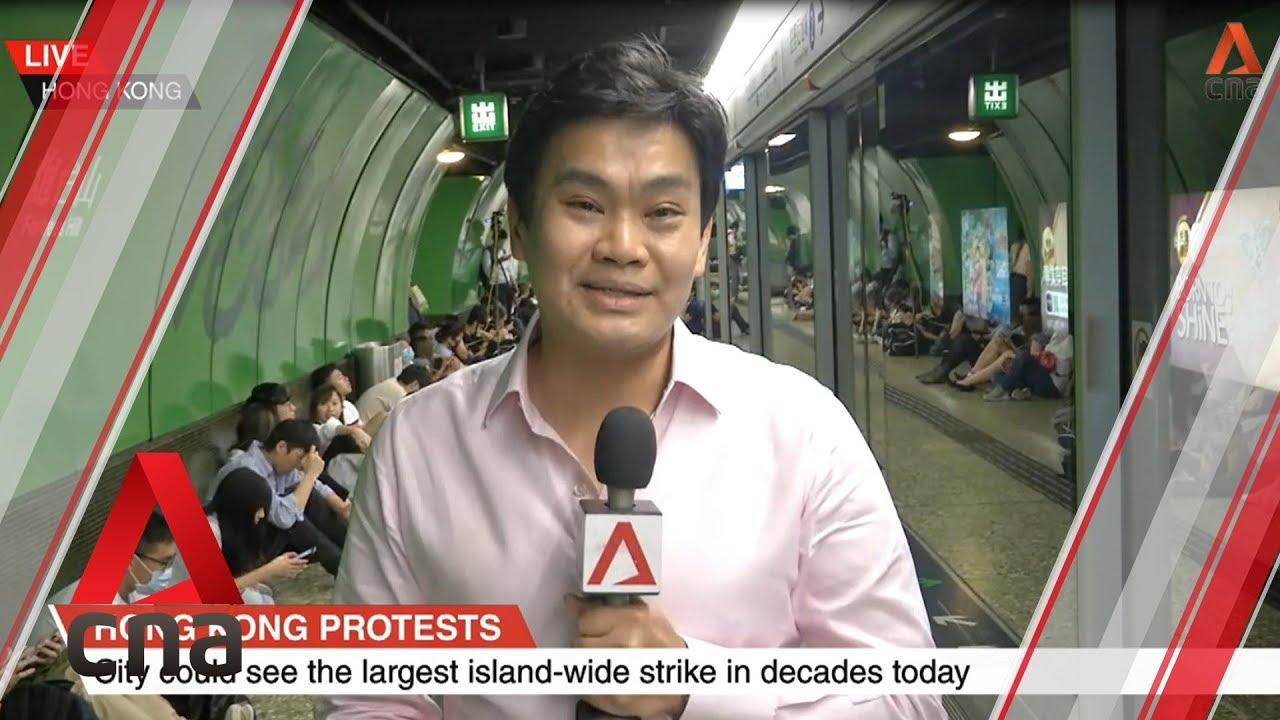 Hong Kong protesters disrupt road, rail network during