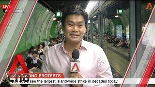 Hong Kong protesters disrupt transport services during morning rush